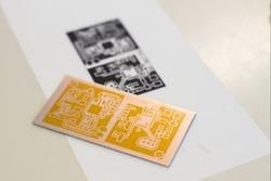 Circuit board etching process pre acid
