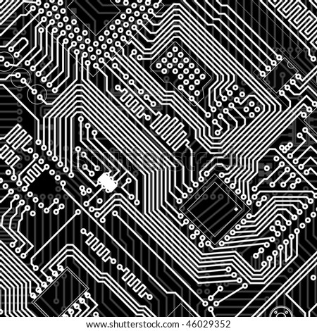 Circuit board industrial electronic monochrome graphic background
