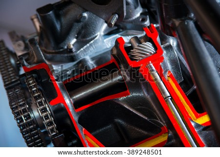 Circuit in the motor vehicle stock photo