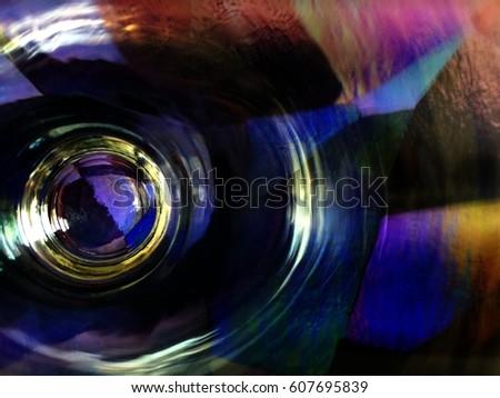 Circular abstract hologram. #607695839