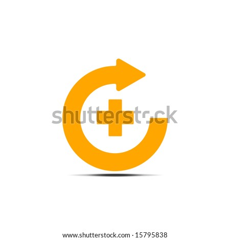 Circular Arrow Pointing Right With Plus Sign in its Center