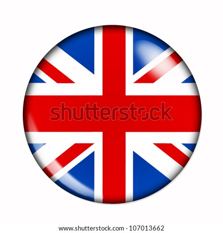 Circular,  buttonised flag of Great Britain
