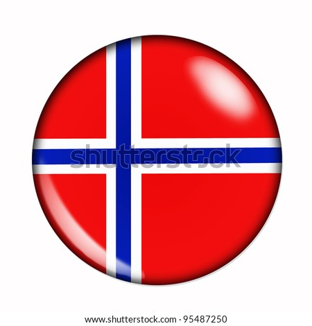 Circular,  buttonised flag of Norway