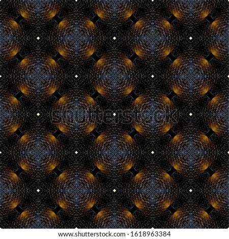 Circular circular grid pattern repeating square