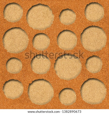 Circular decorative pattern - Decorative circular shape, Wallpaper texture background - Continuous replication, Fine natural structure - texture cork
