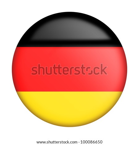 Circular german flag with gloss stylized as an icon