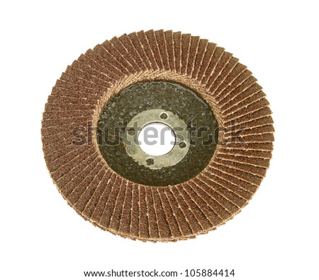 Circular grinding stone isolated on white background