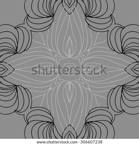 Circular   pattern of delicate striped motif, stripes,stars, doodle,cross. Hand drawn.
