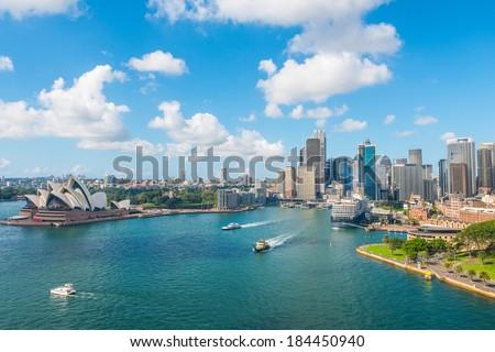 Circular Quay and Opera House, Sydney, NSW, Australia