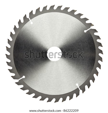 Circular saw blade for wood work - stock photo