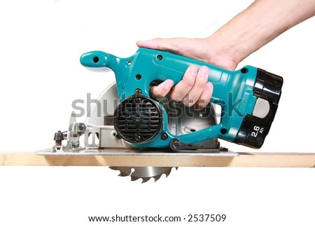 Circular Saw - Isolated on White