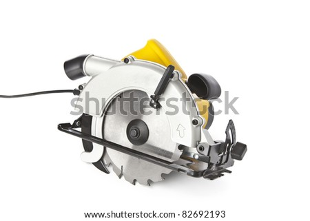 Circular saw on a white background