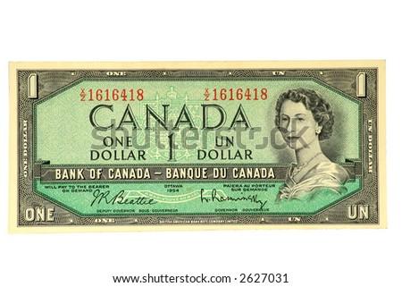 Circulating Canadian Banknote of 1954-72.