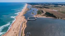 Circule Garzon Bridge, Punta del Este, Uruguay
