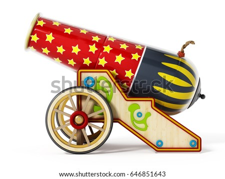 circus cannon isolated on white ...