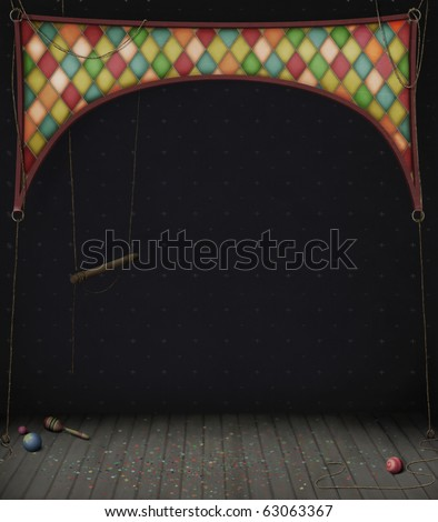 Circus Room with swings and balls