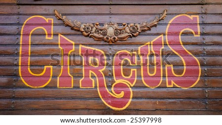 Circus Sign made of wood