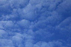 Cirrus clouds on the blue sky background. Abstract sketches of nature. The skies landscape in summer. Sky texture