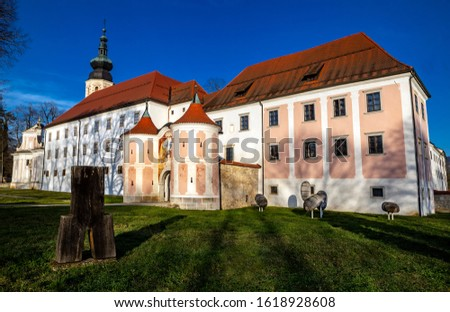 Cistercian monastery Kostanjevica na Krki, homely appointed as Castle Kostanjevica, Slovenia, Europe. Stock photo ©