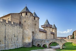 Cite de Carcassonne is a medieval citadel located in the French city of Carcassonne. Comtal castle
