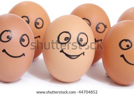 Eggs With Faces. eggs face character