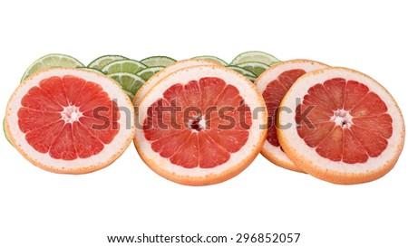 Citrus, bright and juicy grapefruit #296852057