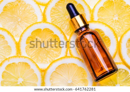 Citrus essential oil, vitamin c serum, beauty care aroma therapy.