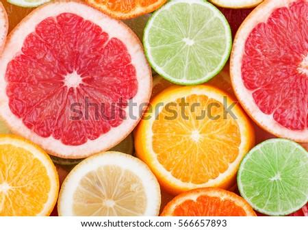 Shutterstock Citrus fruits background.