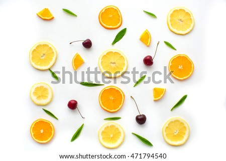 Citrus fruits. Citrus fruits with green leaves. Citrus fruits is #471794540