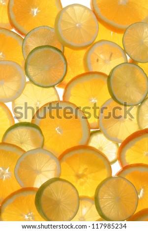 citrus fruits in slices...........