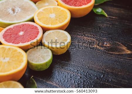 Citrus fruits (orange, lemon, grapefruit, mandarin, lime) #560413093