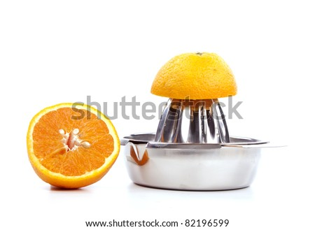 Citrus juicer against a pure whit background