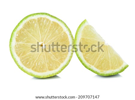 Citrus lime fruit isolated on white background  #209707147