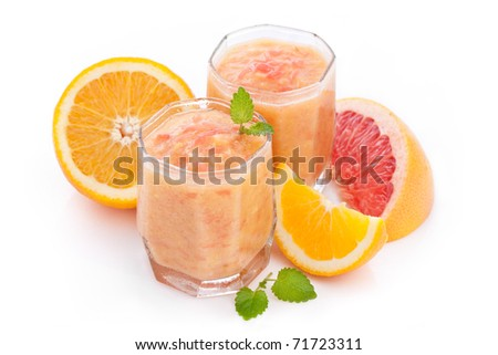 citrus moothie with orange and grapefruit