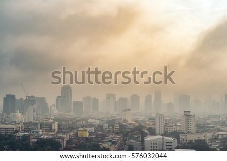 City air pollution ストックフォト ©