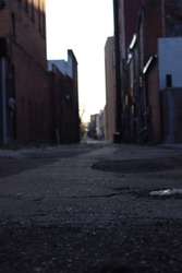 City Alley Morning Pavement Street