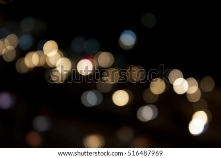 City And Traffic Light Bokeh Abstract Blur Background View From AboveBokeh Is The Aesthetic