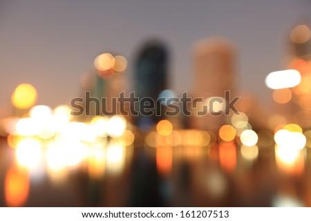City at night - blur photo,Bokeh background