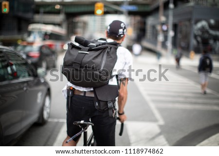 City bike courier
