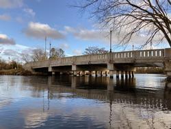 City Bridge under a Clear Sky