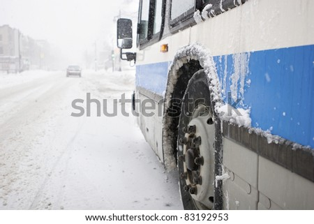 City Bus in a Blizzard