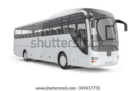 city bus with blank surface for ...