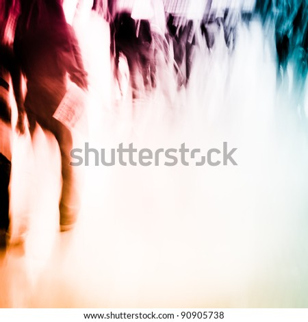 city business people crowd abstract background