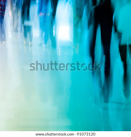 city business people crowd walking abstract background