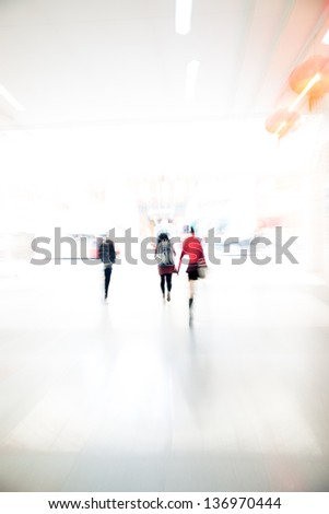 city business people urban scene abstract background, blur motion and zoom.