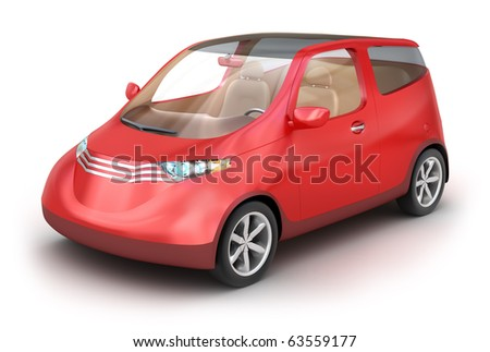 City car isolated on white . My Own Design