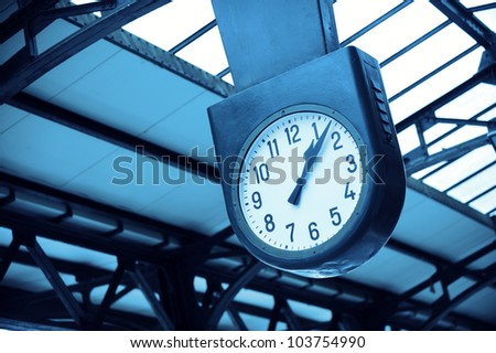 City Clock in train station