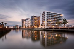 City complex at Odense harbor, Denmark.