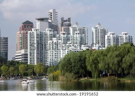 City development vs. Green field, Shanghai-China