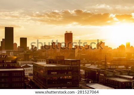 Shutterstock City during warm sunset